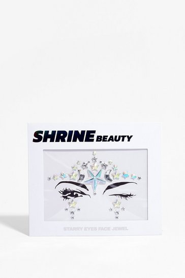 Silver Shrine Starry Eyes Face Jewels