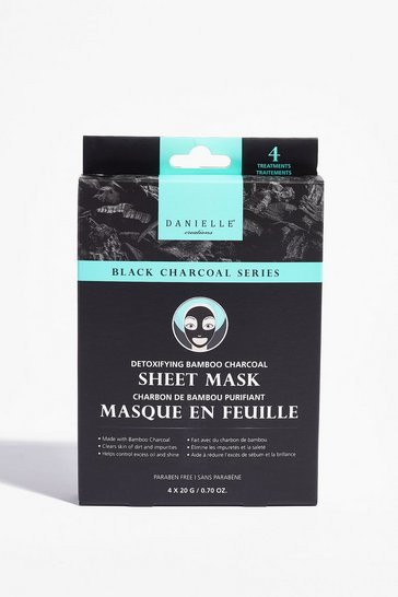 Black DANIELLE Face Reality 4-Pc Sheet Mask Set