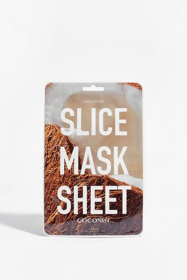 Brown KOCOSTAR Play Slice Coconut Sheet Mask