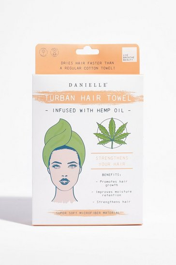 Green DANIELLE It's a Wrap Hemp Towel Hair Wrap
