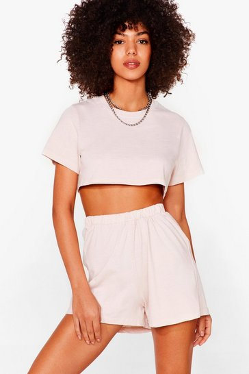 Sand Short It Out Cropped Tee and Shorts Set