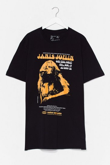 Black Janis Joplin Band Tee Dress