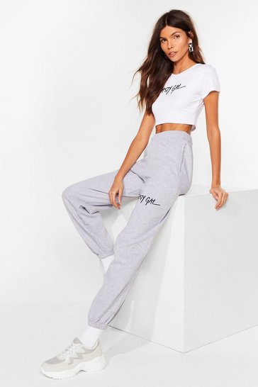 Grey Nasty Gal Word on the Street Relaxed Joggers