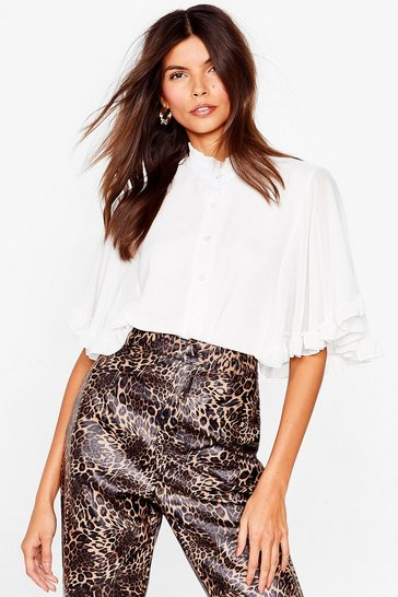 Ivory Totally Wingin' It Angel Sleeve Blouse
