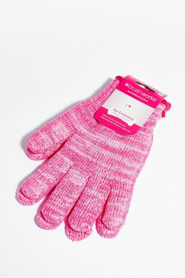 Pink Brushworks Golden Hour Exfoliating Gloves