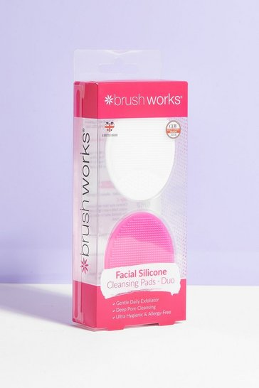 Pink Brushworks Silicone Cleansing Pad 2-Pc Set