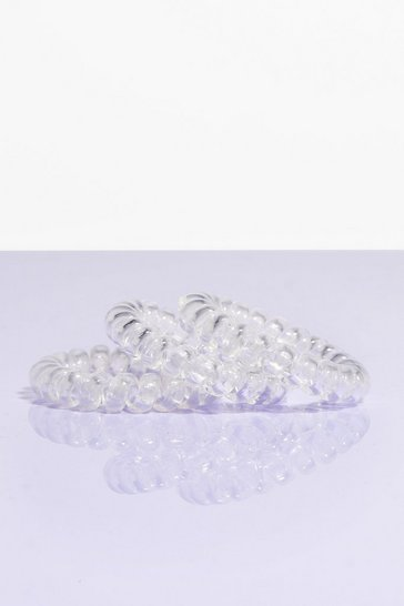 Keep It Up Clear 5-Pc Hair Bobble Set