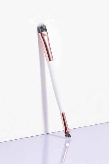 White Brushworks Brush Hour Double-Ended Eye Brush