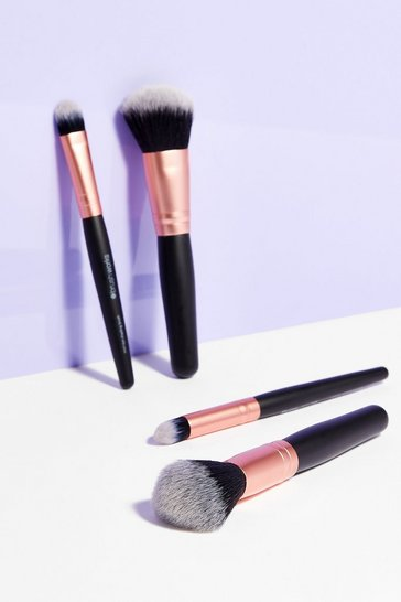 Black Just Glow With It 4-Pc Mini Makeup Brush Set