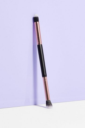 Black Brush It Off Double-Ended Cosmetic Brush