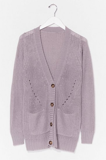 Grey Good Mornin' Knit Longline Cardigan