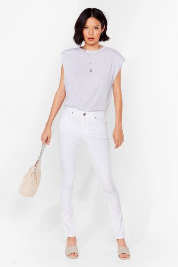 Optic white Keep Me Close High-Waisted Skinny Jeans