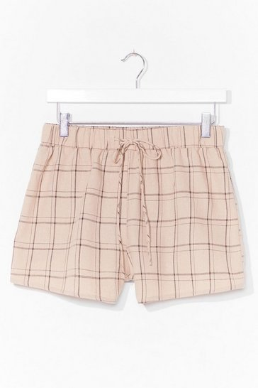 Stone Get in Line Check Shorts
