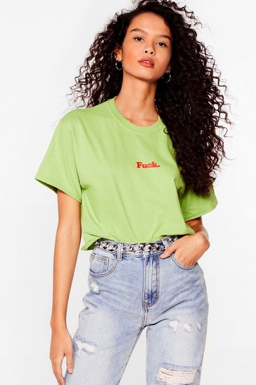 Kiwi Oh Fuck Graphic Cropped Tee