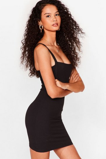 Black Nothing to Seam Here Mini Bodycon Dress