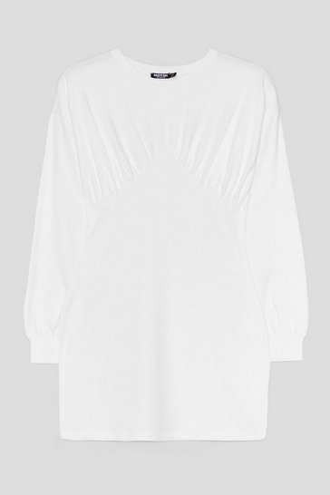 Off white Show Bust Go on Sweater Mini Dress