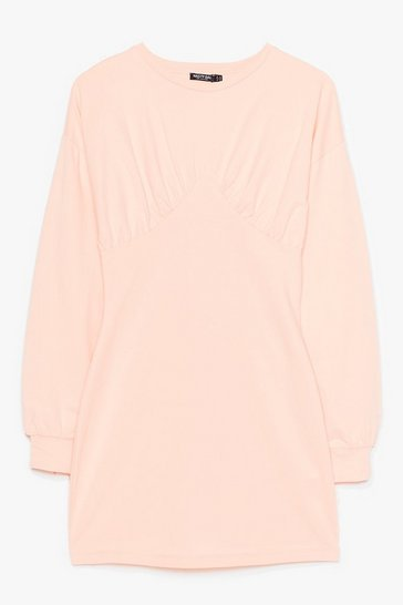 Peach Show Bust Go on Sweater Mini Dress