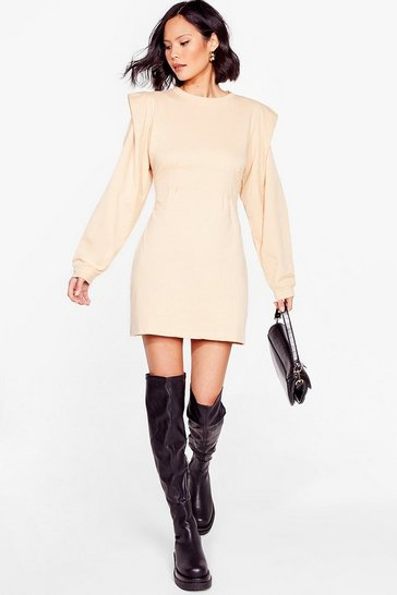 Oatmeal Get Bold Sweater Mini Dress