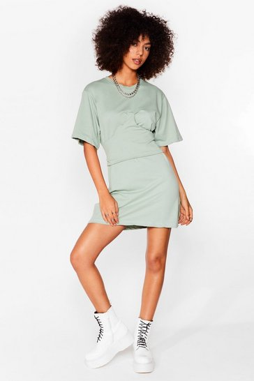 Sage Corset the Stage Mini Tee Dress