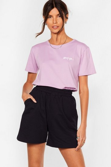 Lilac Nothing But a Nasty Gal Relaxed Tee