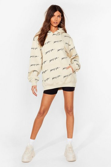 Sand Nothing But a Nasty Gal Oversized Hoodie