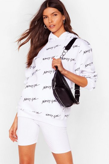 White Nothing But a Nasty Gal Oversized Hoodie