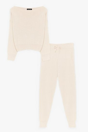 Vanilla So Easy Knitted Joggers Lounge Set