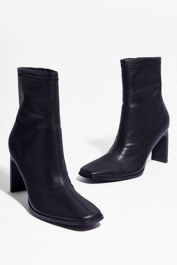 Black Square's Something About You Faux Leather Boots