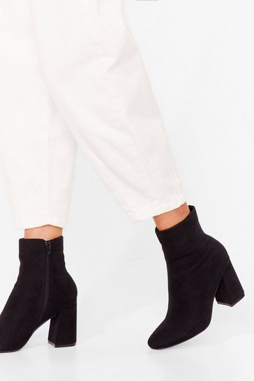 Black Sock on the Agenda Corduroy Ankle Boots