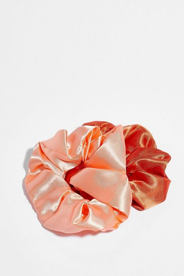 Rust Thanks a Scrunch Satin 2-Pc Scrunchie Set
