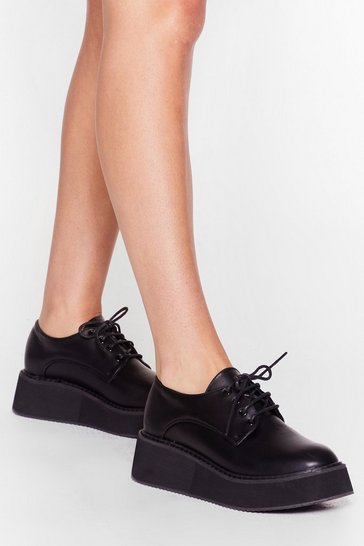 Black Raise the Stakes Platform Brogues