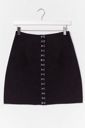 Black Hooked On You High-Waisted Mini Skirt