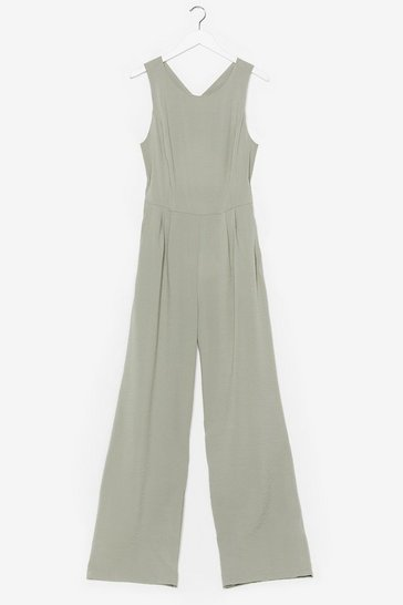 Sage Takin' Care of Business Wide-Leg Crossover Jumpsuit