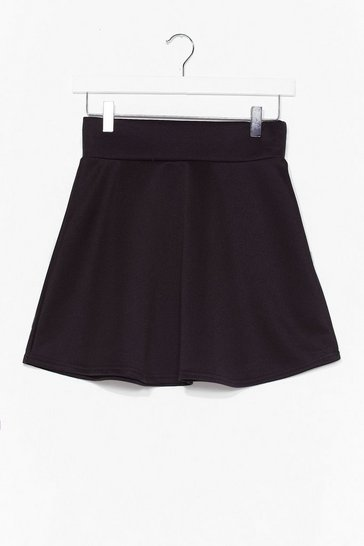 Black Dressed to Frill High-Waisted Mini Skirt