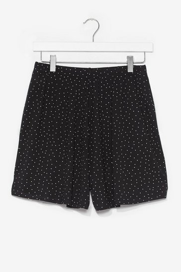 Black Just Dot Good High-Waisted Shorts