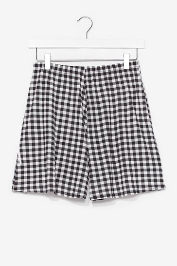 Black Gingham Your All High-Waisted Shorts