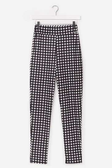 Black Gingham Something to Talk About Fitted Pants