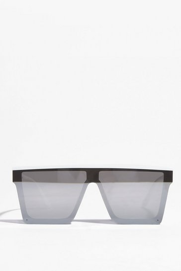 Silver That's Cool Baby Frameless Square Sunglasses