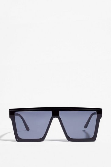 Black New Rules Square Oversized Sunglasses