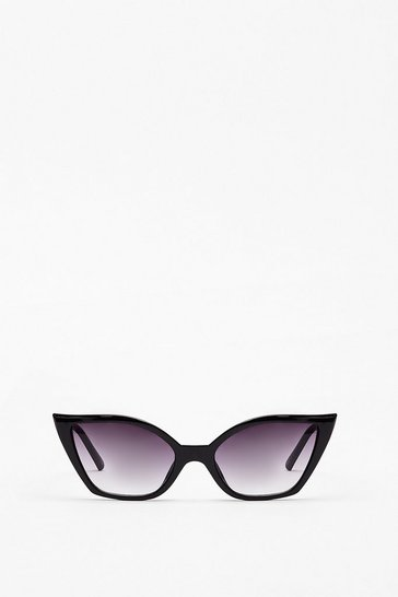 Black Pointed Cat Eye Sunglasses