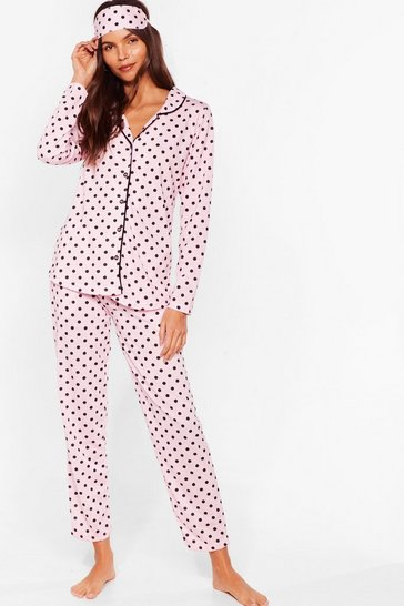 Pink Dotta Lotta to Do 3-Pc Pajama Set