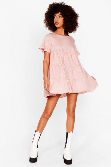 Rose Leave 'Em in Tiers Ruffle Mini Dress