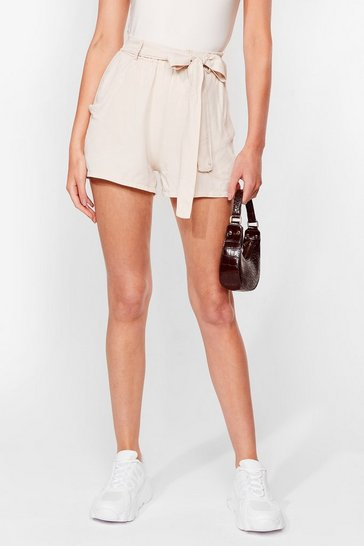 Stone Tie Can't Get Enough Belted Relaxed Shorts