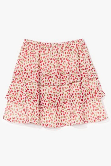 White Sweet Memories Cherry Mini Skirt