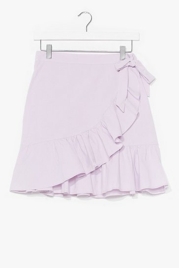 Lilac Time for a Shake Up Ruffle Mini Skirt