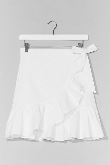 White Time for a Shake Up Ruffle Mini Skirt