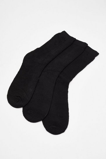 3 PK Black Bed Socks