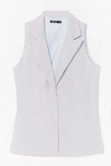 Mint Work Hard Relaxed Tailored Vest