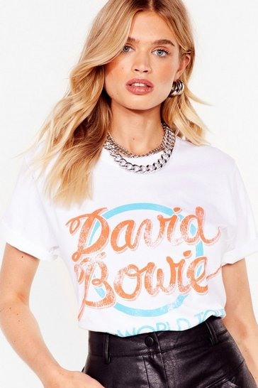 White David Bowie World Tour Graphic Band Tee