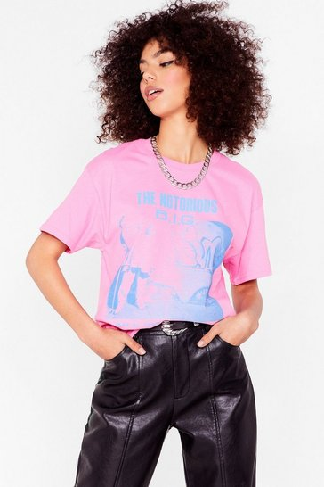 Pink The Notorious Big Graphic Band Tee